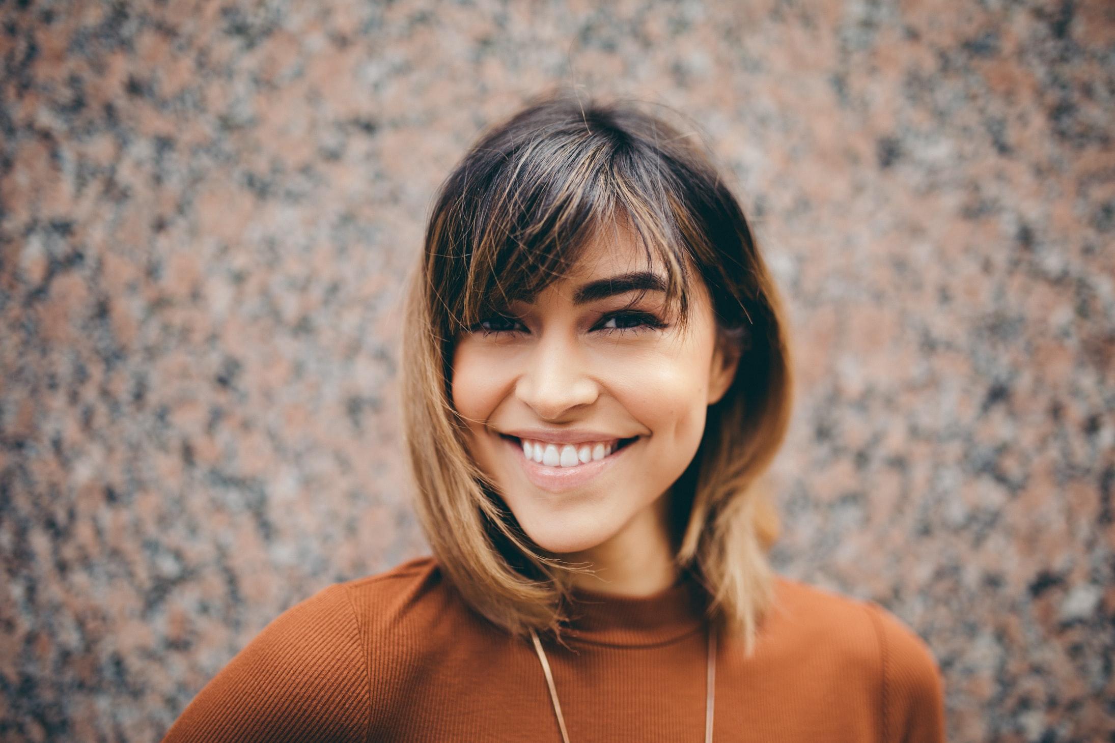 Venezuelan smiling girl